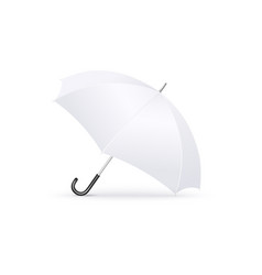 protective white open umbrella side view 3d vector image