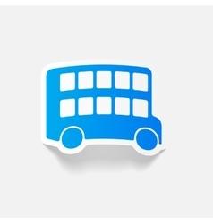 realistic design element bus double decker vector image