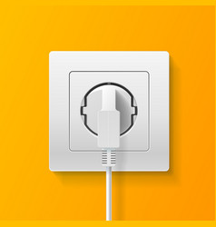 realistic detailed 3d plug inserted in electrical vector image