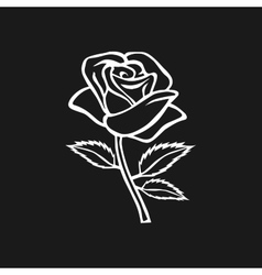 Rose sketch Rose motif Flower design elements vector image