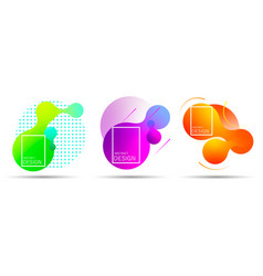 set of colorful elements gradient abstract shape vector image