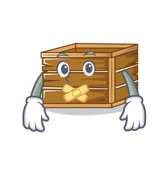 Silent crate mascot cartoon style vector