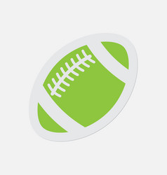 simple green icon - american football ball vector image