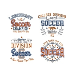 Soccer Badges Collection vector