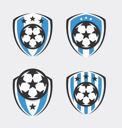 Soccer logo or football club sign badge set vector