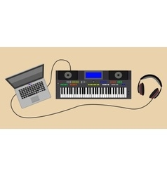 Sound synthesizer with vector