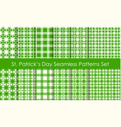 st patricks day holiday seamless pattern set vector image