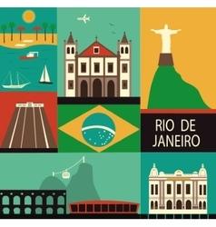 Symbols of Rio de Janeiro vector