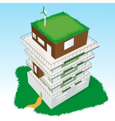 Top view of a building vector image