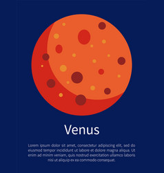 Venus planet symbol of beauty informative poster vector