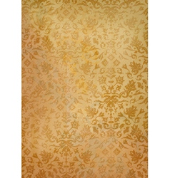 Vintage grunge old paper background with pattern vector image