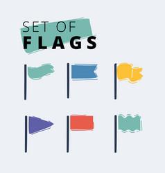 waving flags set vector image