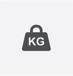Weight kg icon vector