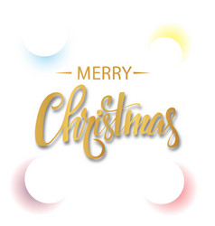 White christmas background with colored circles vector
