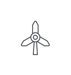 windmill energy thin line icon linear vector image
