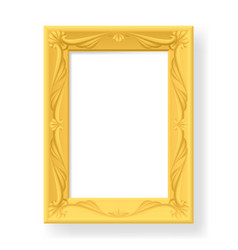 Wooden frame for photos on white background for vector