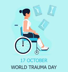 World trauma day concept event vector