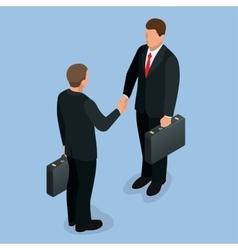 Businnes handshake concept handshake in flat vector