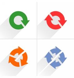 Color arrow loop refresh reload rotation sign vector image