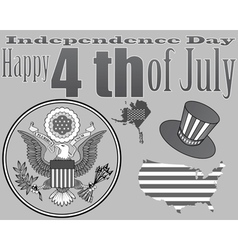 Emblem to the US Independence Day vector image vector image