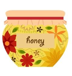 Honey jar retro vector image vector image