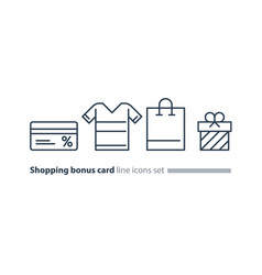 Shopping special offer bonus card loyalty program vector