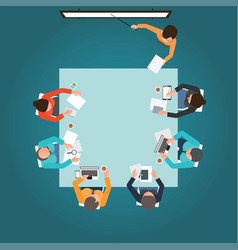 top view of business presentation vector image