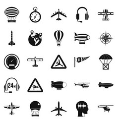 atmosphere icons set simple style vector image vector image