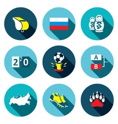 Soccer game flat Icons set vector image vector image