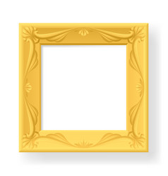wooden frame for photos on white vector image vector image