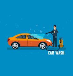 car wash banner vector image