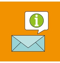Email receiving message bubble chat design vector