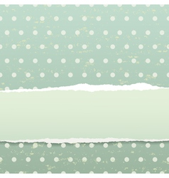 Retro background with torn paper vector image