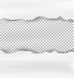 ripped paper and checkered background with space vector image vector image