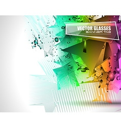 Abstract Background with Shapes Explosion For vector image