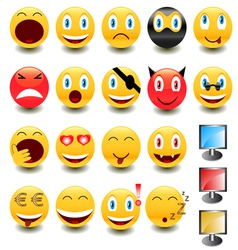 Big set of smiles vector image