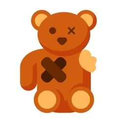 Broken toy bear vector image