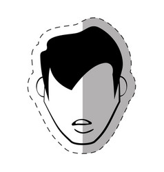 male faceless character image vector image vector image