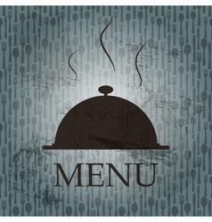 Restaurant menu template in grunge retro style vector image