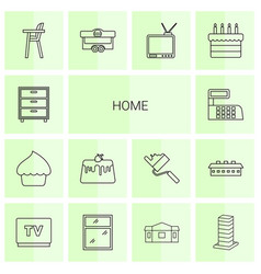 14 home icons vector