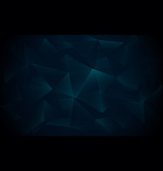Abstract dark blue polygonal geometric triangle vector