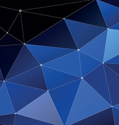 Abstract triangle geometrical blue vector