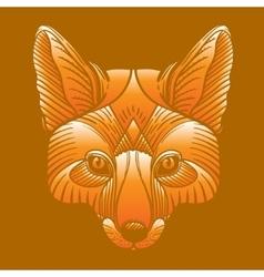 Animal fox head print ethnic patterned ornate vector