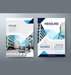 Annual report brochure flyer book cover templates vector