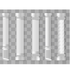 Antique white columns vector