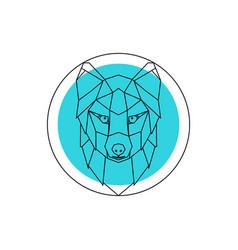 Arctic fox head logo vector
