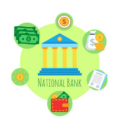 banking icon premium quality vector image vector image