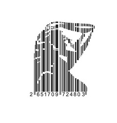 Barcode female vector
