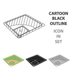 baseball court baseball single icon in cartoon vector image
