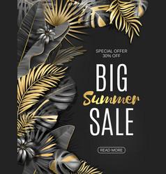 Big sale vertical banner summer sale tropical vector